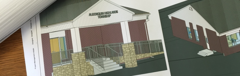 Photo of Building Plans Showing Accessible Ramp