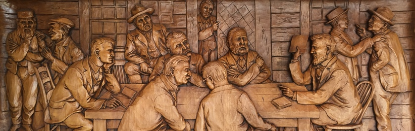 Photo of Woodcarving of Early Stanhope Council